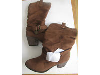 ROCKET DOG BROWN COWBOY STYLE WOMENS BOOTS SIZE UK7 BRAND NEW !!!