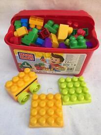Tub full of blocks