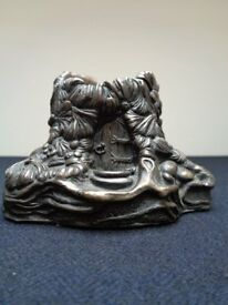 Pendelfin Cold Cast Bronze Mouse House Candle Holder