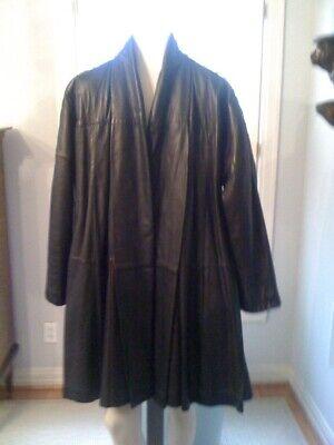 Vintage Gianfranco Ferre black leather coat