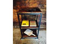 Rustic Butchers Block Kitchen Island Cocktail Trolley