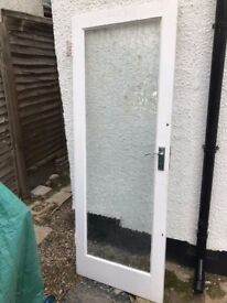 Frosted glazing internal door