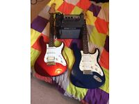 Electric guitar x2 and amp set