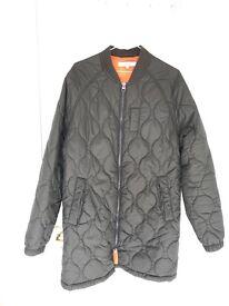 Loop longline bomber jacket