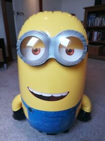 Minion remote control inflatable toy on wheels