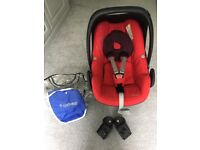 Maxi cosi pebble car seat with accessories