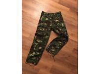 Army camouflage fancy dress combat trousers