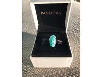 *New and boxed* Pandora Teal Murano Charm