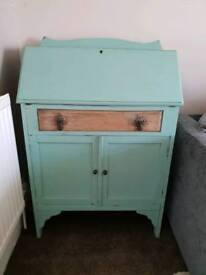Vintage shabby chic writing desk bureau