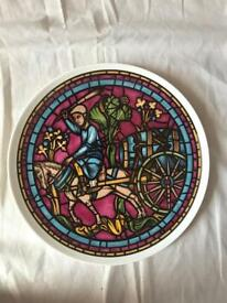Crown Staffordshire Stained Glass Windows plate