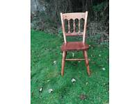 Pine kitchen/dining chair