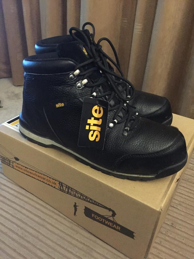 New steel toe capped boots 8
