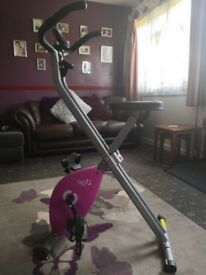 Nearly new exercise bike.