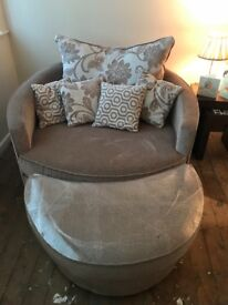Sofa and snuggle chair