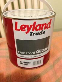 One coat white gloss paint. 2.5l. Brand new un opened.