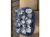 24 mini glass storage jars IKEA