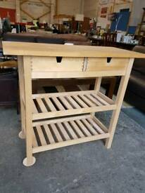 Hostess trolley with 2 drawers