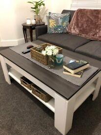 White/grey coffee table