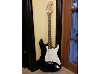 Squier Stratocaster black electric guitar