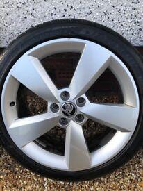 "Skoda 17"" alloy wheels"