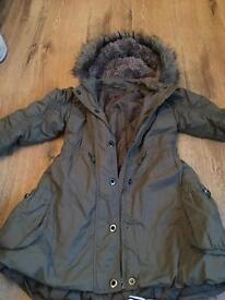 7-8 m & s limited collection Parker khaki coat