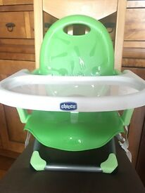 Chicco portable high chair/booster seat-only used once