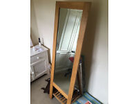 Amazing Free standing, Wood Full Length Cheval Mirror