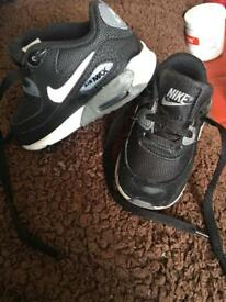 Kids genuine Nike air max trainers