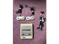 SNES - Two Controllers - Power Cable - Scart Cable