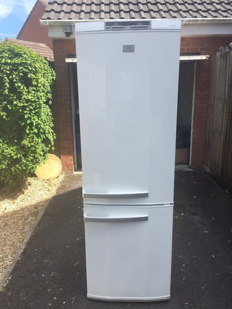 SOLD AEG Santo freestanding fridge/freezer