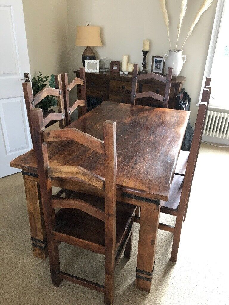 Dark Wood Dining Table And 6 Chairs In Woodford London Gumtree