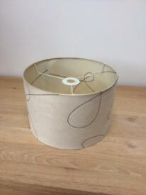 Suede lamp shade
