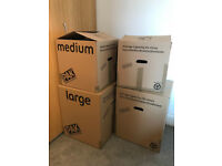 13x ARGOS StorePAK cardboard boxes for moving or storage (4x large, 9x medium)