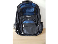 Targus XL Backpack Designed for Notebooks, Black with Blue Accents