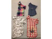 Boys 9-12 month short sleeved shirt bundle (4 items inc M&P & mothercare)