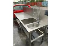 Commercial Sink with Mixer