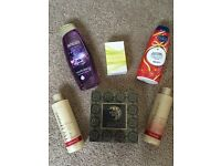 Total body hair face spa set shampo conditioner perfume lotion black caviar face spa job lot bundle