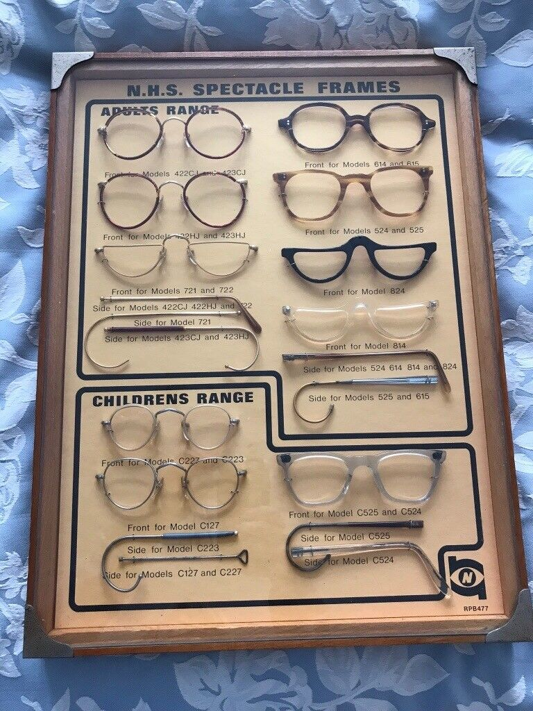 40fe0a65d1a Collectors rare optical frame 1920 s 1930 s nhs display sign spectacles