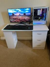Wooden Computer desk white