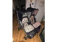 Obaby double Pram pushchair stroller