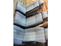 3 x Peugeot Boxer Seats with seat belts