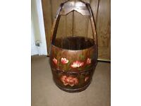Here we have a Canal Art Ornate wooden barrel /bucket