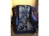 Cloth cushion sofa very comfortable all round excellent condition armchair