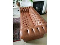 Two Chesterfield-Style 3-Seater Sofas 2x£350
