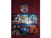 Blu rays -£2 each or £15 the lot.