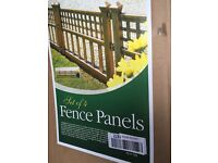 Fence panels x4 for £18.79