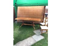 Pine Dining Table (extendable) 6 x Chairs and Dresser (will sell separately)