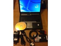 Professional Diagnostic Laptop Car Van Truck + Bluetooth VCI + 2014.2 Software