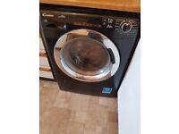 Candy washer dryer black di Black digital Alise model.