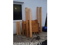 Two single solid pine beds and mattress free delivery omagh area
